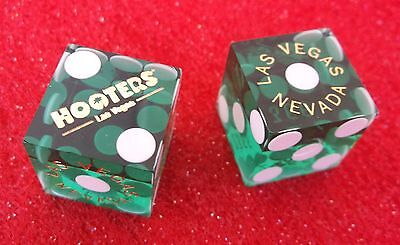 CASINO DICE - Green HOOTERS Las Vegas Hooter's Palm Tree Logo with MATCHING #s