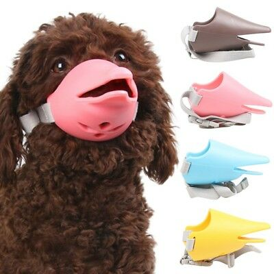 Dog Face Mask Muzzle Mouth Anti-bite Duck Silicone Anti-called Cover Shape S-XL