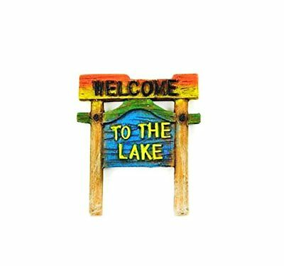 Miniature Miniature Dollhouse Fairy Garden Welcome to the Lake Sign - My Mini or