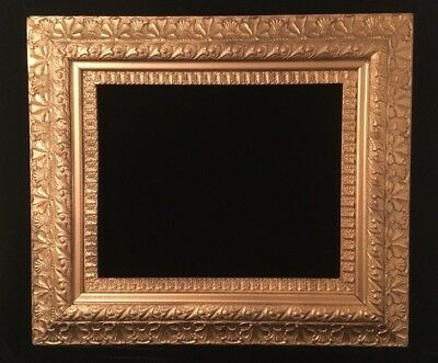 """Large Antique Ornate Gold Gilt Picture Frame Victorian Wood Gesso 16x20"""" opening"""