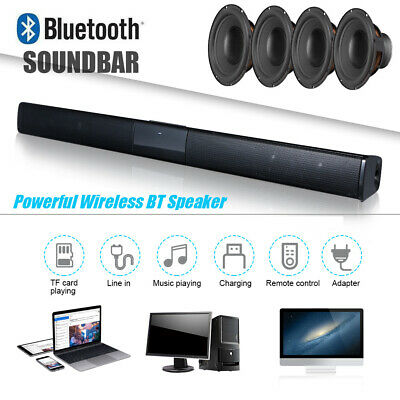 Bluetooth TV Sound Bar 3D Surround Home Theater 4*5W Speaker Wireless Subwoofer