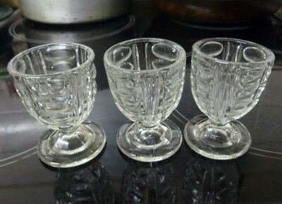 Vintage Clear Glass Egg Cups. Foreign made.