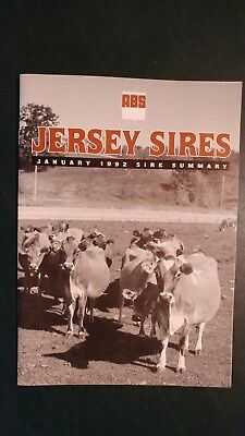 1992 American Breeders Service - Abs Jersey Dairy Cattle Sire Directory