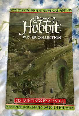 THE HOBBIT POSTER COLLECTION - SIX PAINTINGS BY ALAN LEE 1st Edition