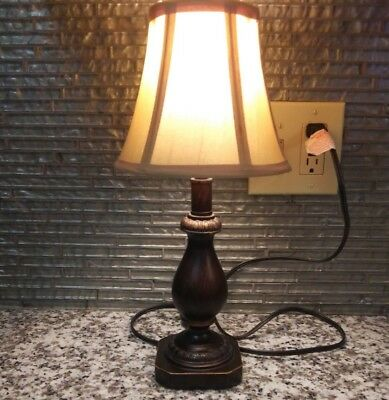Better Homes & Gardens Mahogany Accent Table Lamp Soft Reading Ambient Light