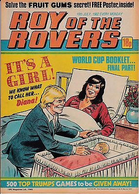 Roy of the Rovers Comic dated 10th July 1982
