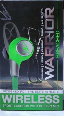 Warrior Bluetooth Wireless Sport Earbuds Headphones With Built-in Mic.