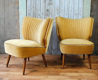 Vintage cocktail chairs - pair