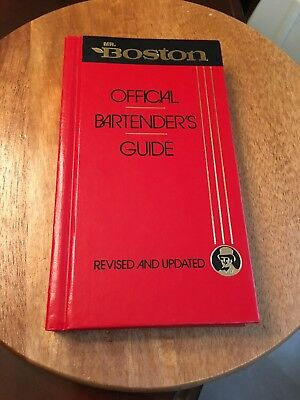 Old Vtg 1988 Mr. BOSTON OFFICIAL BARTENDERS GUIDE Book 63rd Edition HB EUC