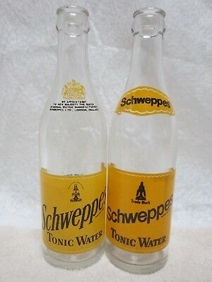 Schweppes Canada Tonic Water 10 Ounce 1963 & 1971 Glass Bottle Returnable Acl