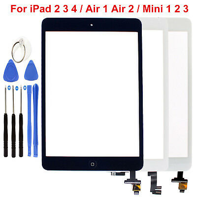 For Apple iPad 2 3 4 Air 1 2 Mini 1 2 3 Touch Screen Glass Digitizer Replacement
