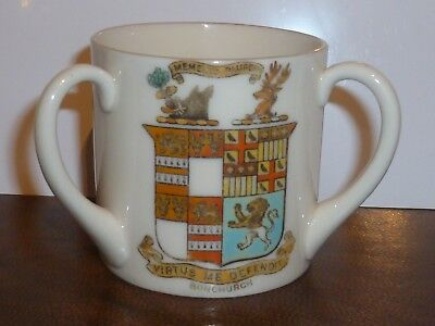 GOSS Crested China Loving Cup. Bonchurch, Isle of Wight & Isle of Wight Ancient