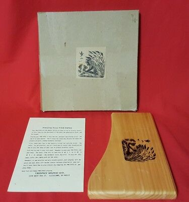 RARE Vintage Pan Pipes Wooden TROPHY MUSIC CO. USA Made