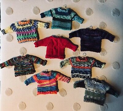 Miniature Hand Knit Sweater Holiday Ornaments