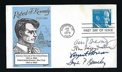 Cover signed by Robert Kennedy related Notables Sargent Shriver...