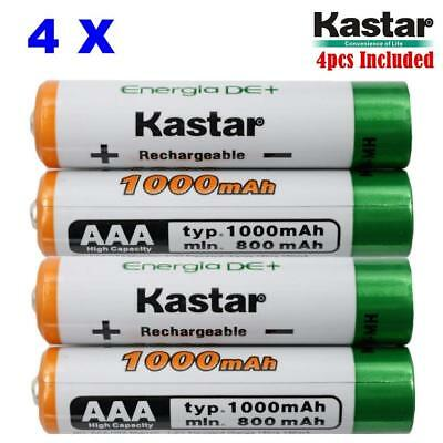 AAA (4-Pack) Ni-MH 1000mAh High-Capacity Rechargeable Batteries Pre-charged