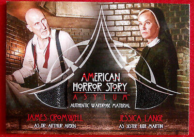 AMERICAN HORROR STORY - ASYLUM - JAMES CROMWELL / JESSICA LANGE Costume Card CD2