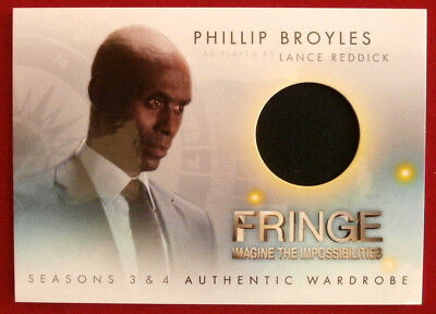 FRINGE - Seasons 3 & 4 - LANCE REDDICK'S JACKET - COSTUME CARD, Cryptozoic