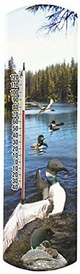 "Heritage America Gifts Loons 20"" Thermometer"