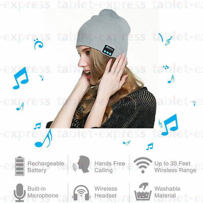 Wireless Bluetooth Headset Beanie Hat Music With Headphones Earphone Cap Color