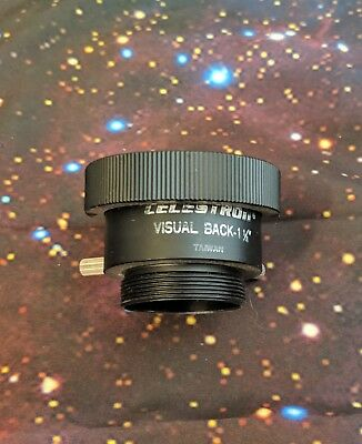 """Celestron 1.25"""" SCT Visual Back for Meade or Celetron SCT Telescopes USED"""