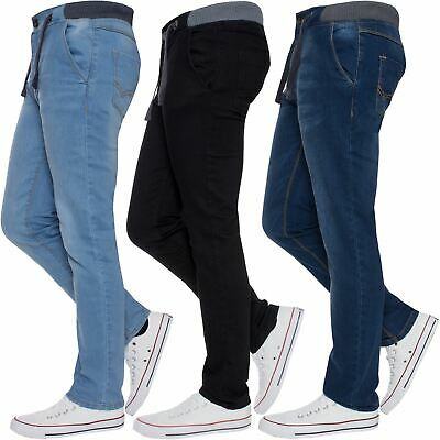 Boys Jeans Elasticated Waist Kids Skinny Stretch School Denim Trousers Pants