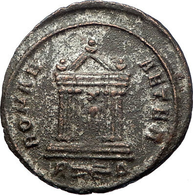 PROBUS 281AD  Rome Authentic Genuine Ancient Roman Coin ROMA  TEMPLE  i73457