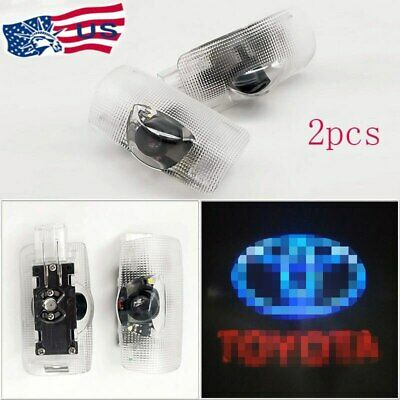 FOR Toyota Door Projector Car Logo LED Light Shadow Lamp Wireless Courtesy Laser