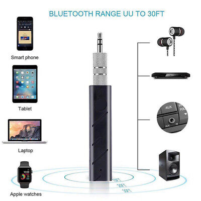 Mini 3.5mm Wireless Bluetooth Car Kit Hands Jack AUX Audio Receiver Adapter