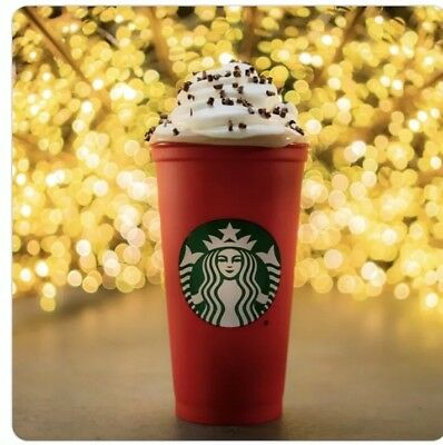 Starbucks Limited Edition Red Holiday Reusable Plastic Cup Tumbler 16oz. 2018
