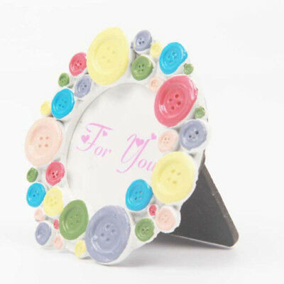 Round Photo Frame Resin Frames Hanging Wall Picture Holder Home Decor G