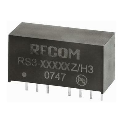 1 x Recom RS3 3W Isolated DC-DC Converter Through Hole Vin 20-60V dc Vout 12V dc