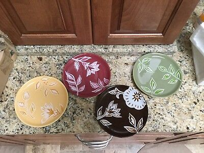"LONGABERGER Nature's Tradition Pottery 7"" Plates Retired,"