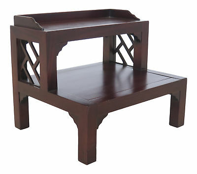 F46130EC: DREXEL HERITAGE Chippendale Mahogany Bed Steps