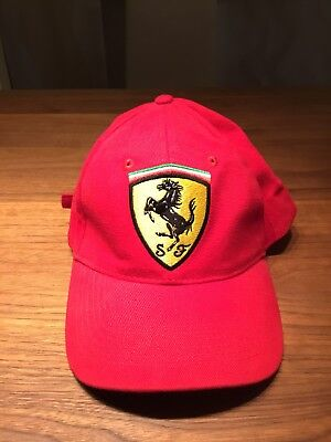 Ferrari Collection Fashionable Red Cotton Cap Classic Logo Unisex