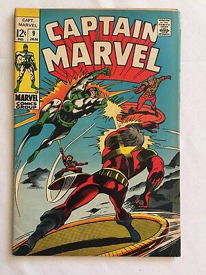 Captain Marvel  #9 Marvel  1969