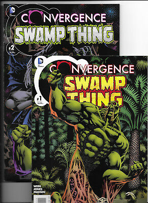 Full Set Of 2: Covergence Swamp Thing #'s 1 & 2 {2015 Dc} 1St Prts Nm New/unread