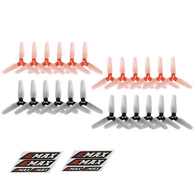 12 Pairs EMAX AVAN Mini 3 Inch 3-blade Transparent Propellers CW CCW for S9G7