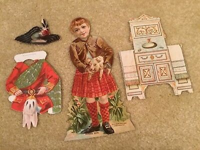 Vtg. Advertising McLaughlin Coffee Paper Dolls PIPER'S SON Complete