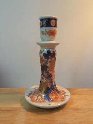 Stunning Antique Japanese IMARI Taper Candlestick Holder - Signed