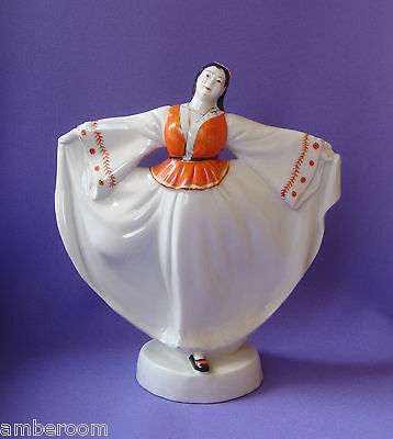 Beautiful Vintage Chinese Porcelain Figurines Of Dancing Xinjiang Uygur Girl 雕塑瓷