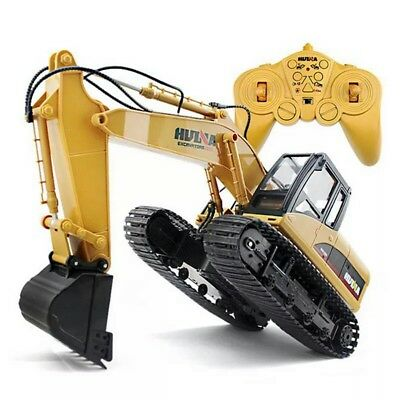 Excavator Digger Remote Control Bulldozer Kids Car Toys US RC Construction Truck