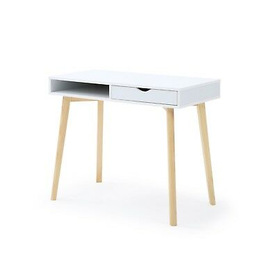 eb554543e99f22 CONTEMPORARY WHITE BRIDGE  Work Desk Office Home Furniture -  144.49 ...