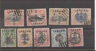 Labuan 1901  Postage Due Stamps Set Of 9 Used