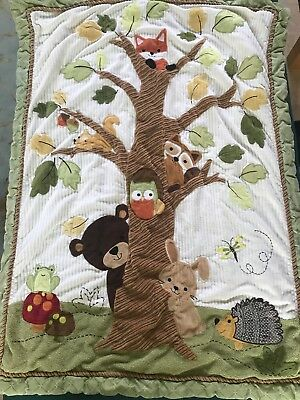 Lambs & Ivy Woodland Creatures Crib Quilt Wall Hanging