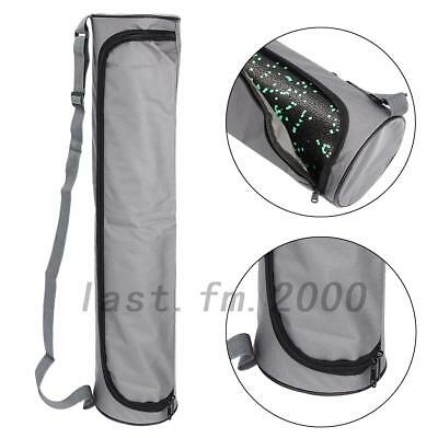 1xGray Exercise Fitness Yoga Pilates Practice Lightweight Carry Mat Bag AU Local