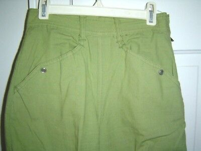 Vintage 80S Green Cotton Western Style Rockabilly Pants Jeans 5/6 Small