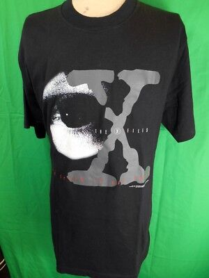 Vintage 1995 Black Cotton Official X Files The Truth Is Out There T-shirt XL NOS