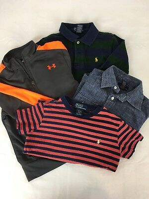 Toddler Boy Polo Ralph Lauren Shirts Lot of 4 Size 4T Boys Under armour 4 jacket