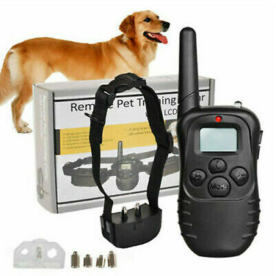Dog Training Collar 100LV Pet Electric LCD Rechargeable Shock (One  Collar) US